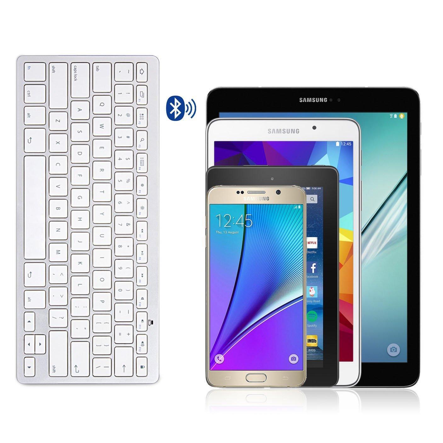 Amazon.com: omoton Ultra-Slim Teclado Bluetooth para Samsung ...