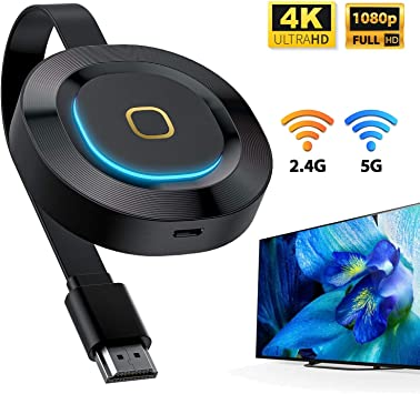 Wireless WiFi Display Dongle 4K, WATSABRO 5GHz + 2.4GHz WiFi ...