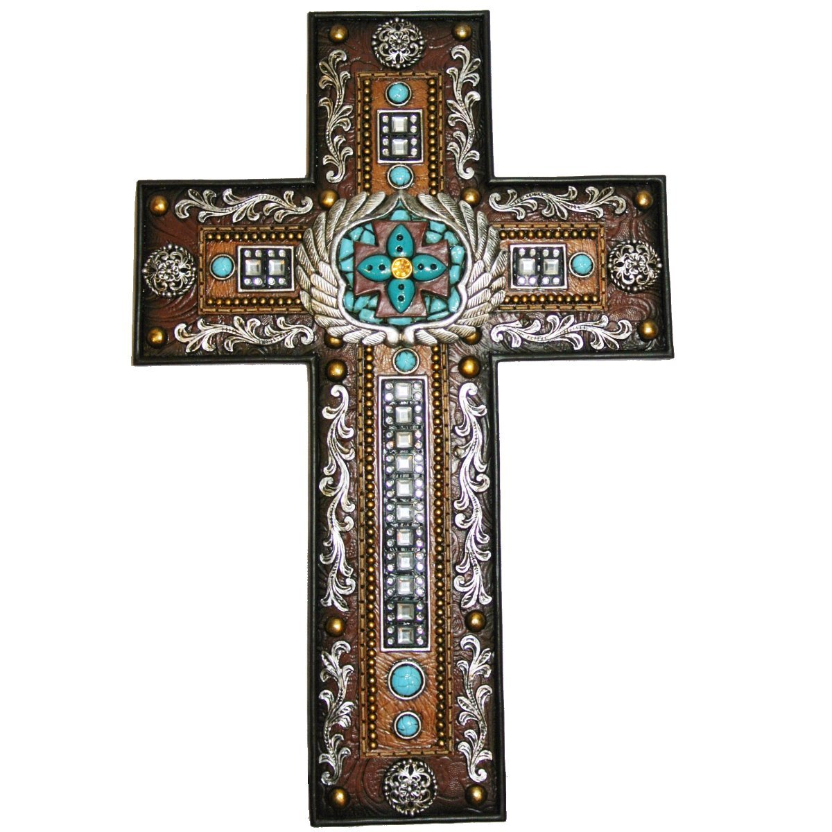 LL Home Cross with Scrolls and Mirrors