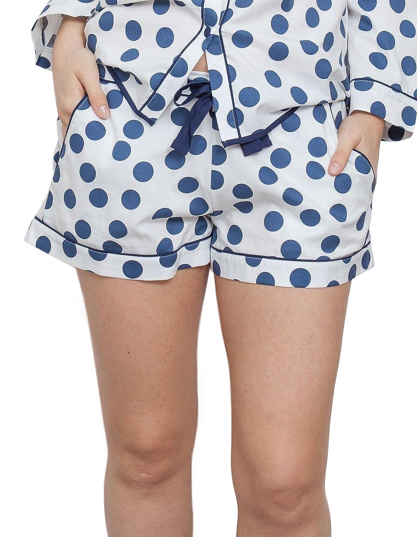 TALLA 42. Cyberjammies 3845 Women's Zoe White Spotted Pajama Pyjama Short