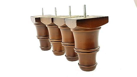 Knightsbrandnu2u 4 x piedini in legno antico mobili gambe di