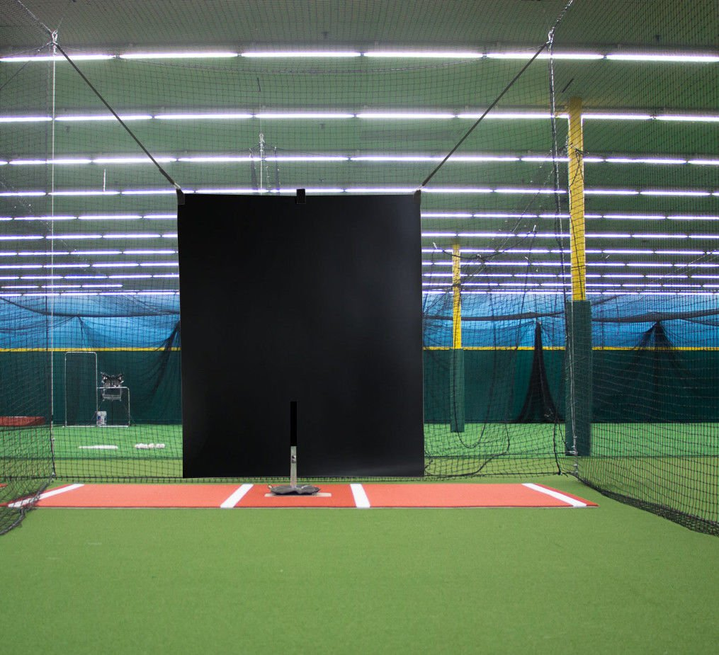 5 x 6 Heavy Duty Vinyl Baseball Batting Cage Backstop - (Black) by Garage Batting Cage Company