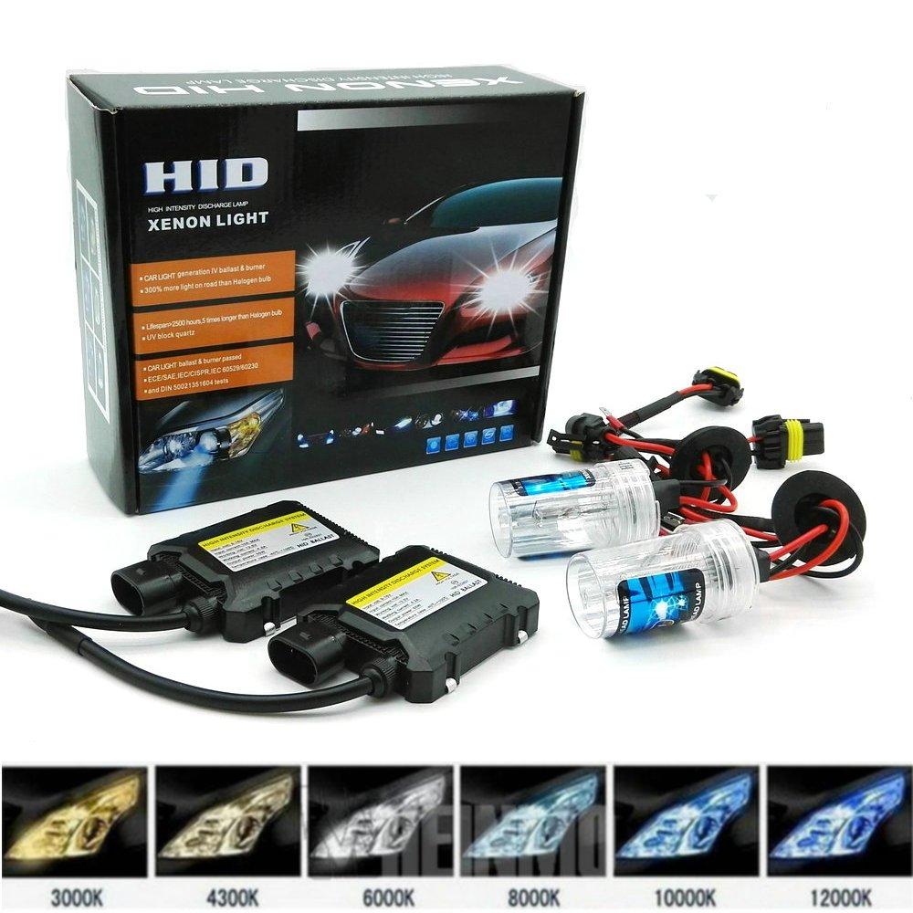 Kit de remplacement HID Xenon Light par Heinmo - 1 paire de phares HID de 55 W - Xenon H3 H7 H9 H11 H8 H1 9005 9006 880 881 HB3 HB4 Heinmo Plus