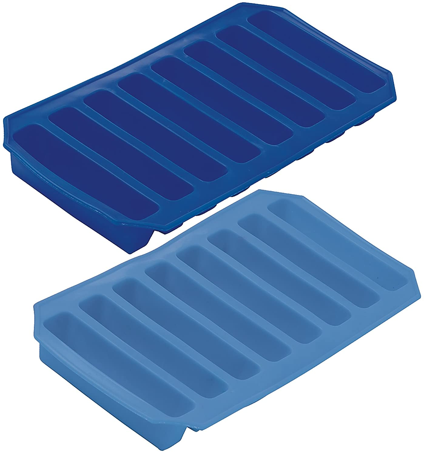 Prepworks by Progressive Flexible Ice Sticks Trays - Set of 2, Ice Cube Tray, Cylinder Ice Cubes, Silicone Tray PLIR-6