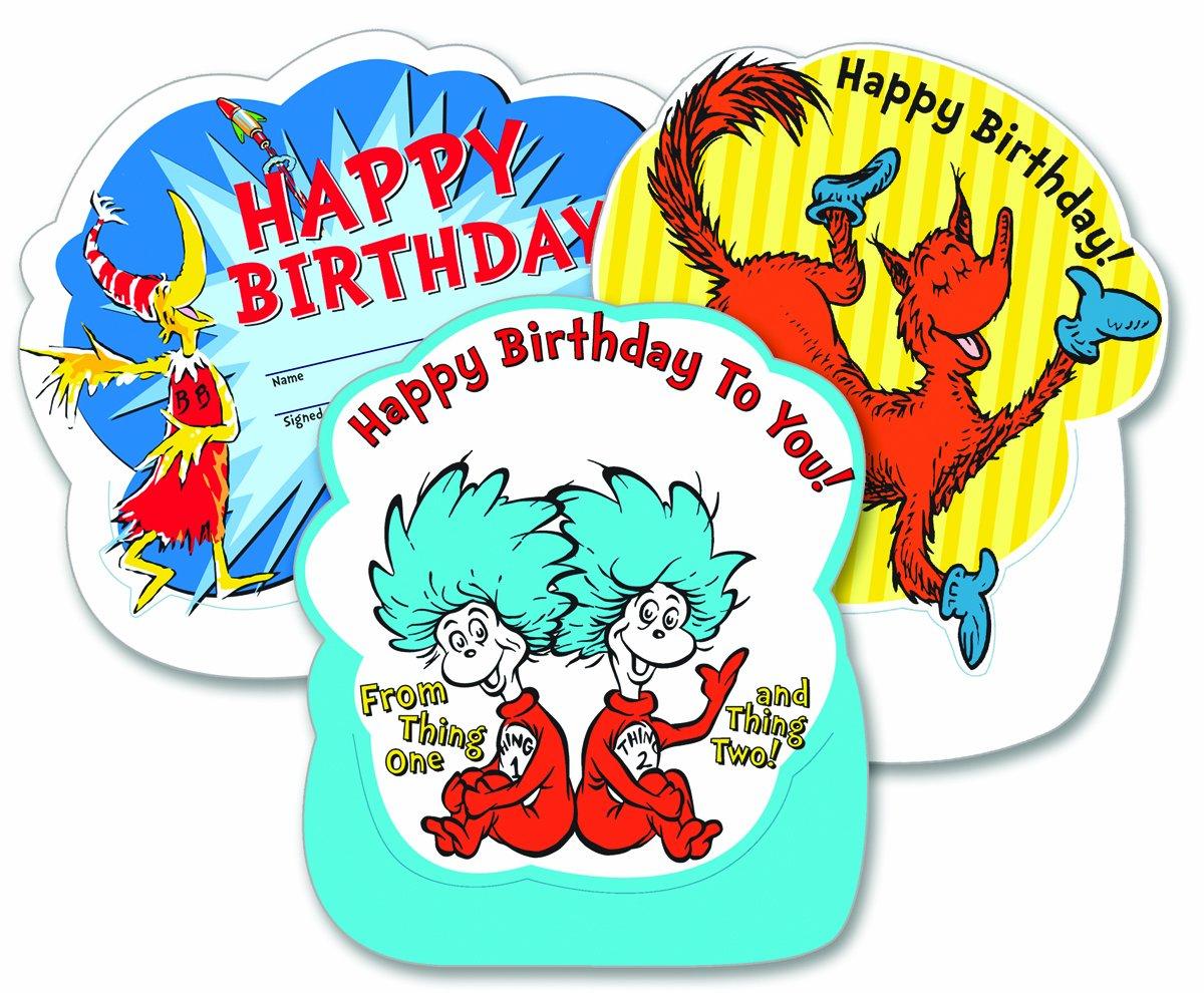 Eureka Dr. reconocimiento, Seuss, feliz cumpleaños para tarjetas de reconocimiento, Dr. 8.5-inches Tall (844037) por Eureka b27554