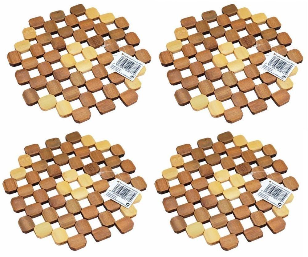 2x Topfuntersetzer aus BambusPfannenuntersetzerBambus Untersetzer