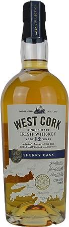 West Cork 12 Año Antiguo Sherry Cask Acabado Solo Whisky de Malta - 700 ml