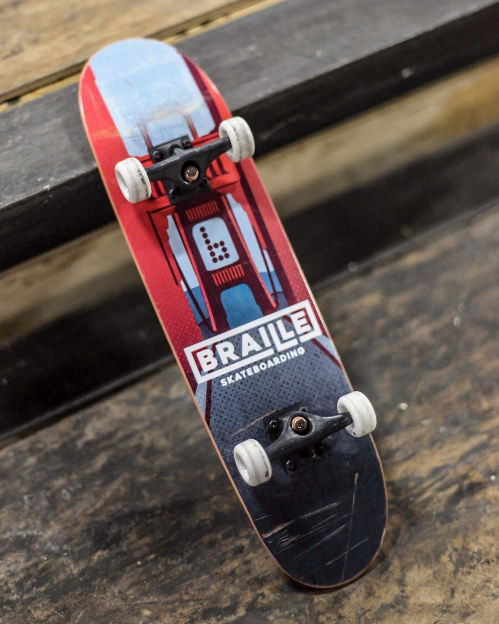 Braille Skateboarding Aaron Kyro Golden Gate 11inch Professional Hand Board. Toy Skateboard Comes with Wheels, Trucks, Hardware and Tools. Real Griptape. by Braille Skateboarding (Image #6)