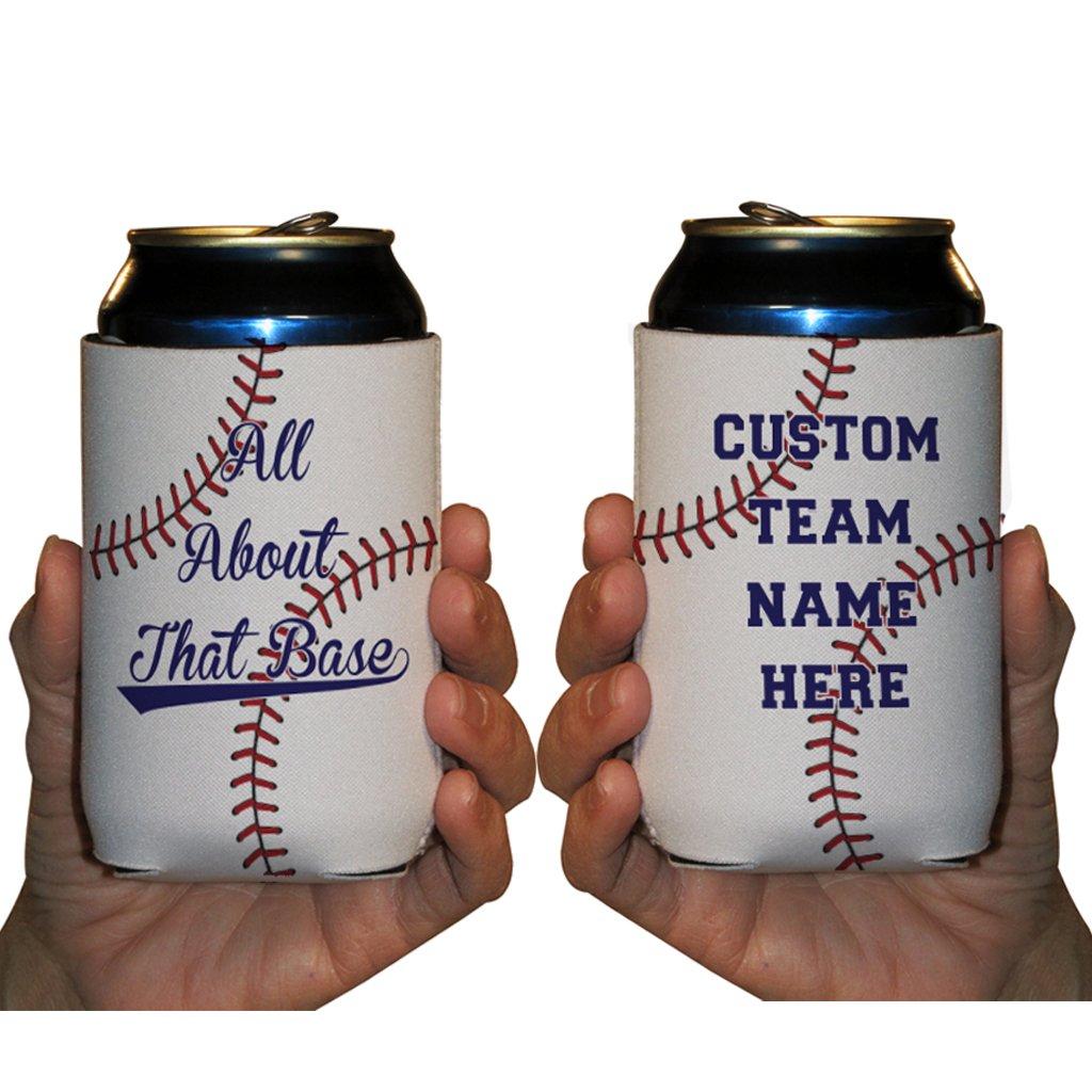 Custom Rec League Baseball Can Cooler - All About That Base Custom Baseball Team Name Can Cooler (48)