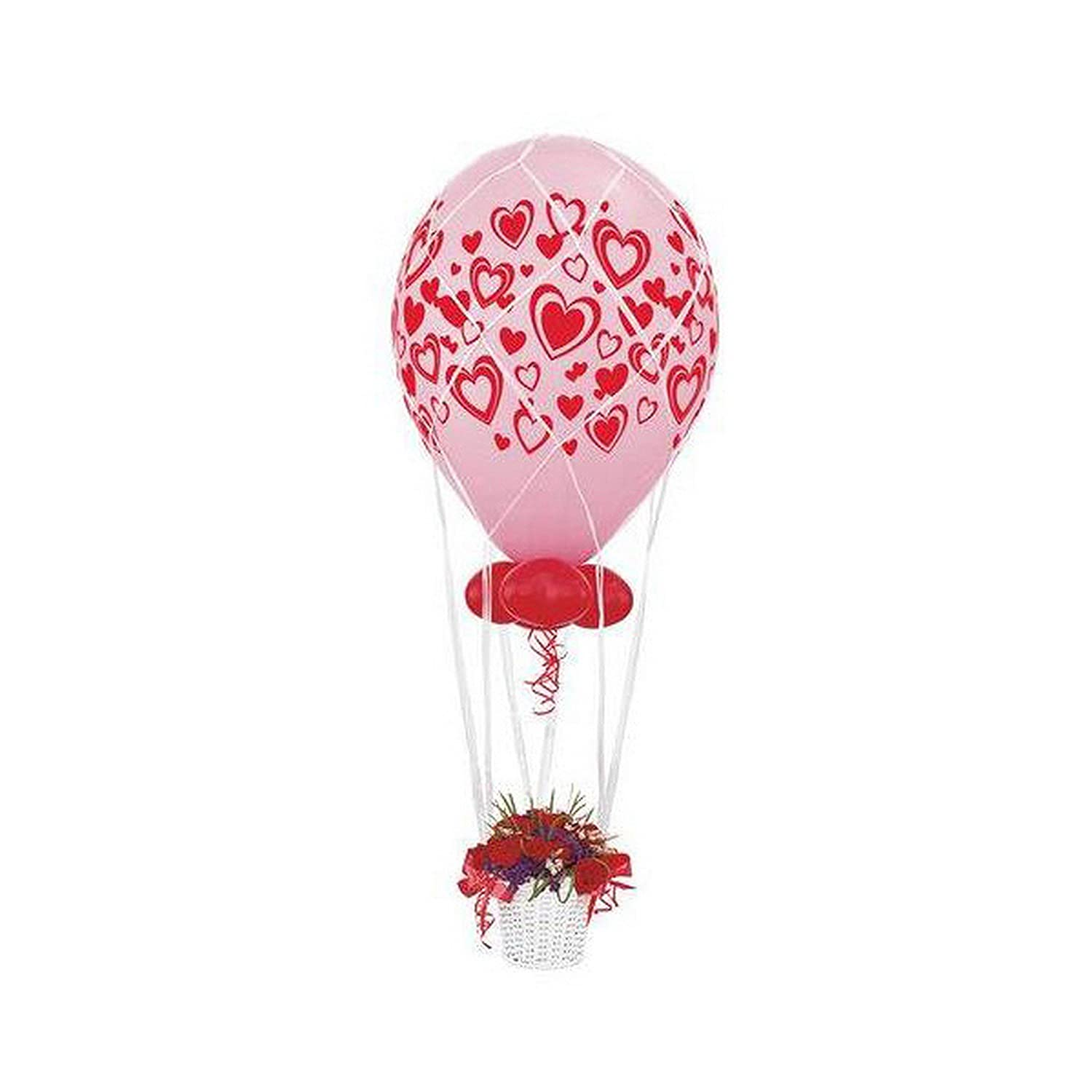 White UK Size  16 Inch Qualatex White Balloon Centrepiece Netting (Product Only Contains Netting And Not Additional Items In Image)