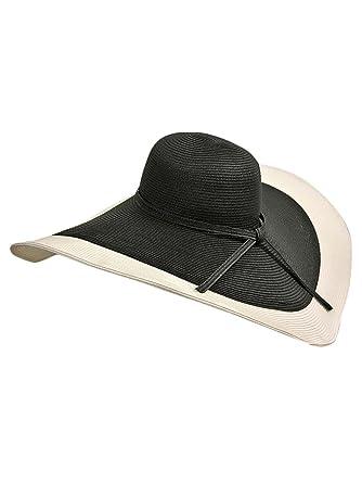 Luxury Divas Black   White Floppy Hat With Wide Brim at Amazon ... 7e2dbb6064a