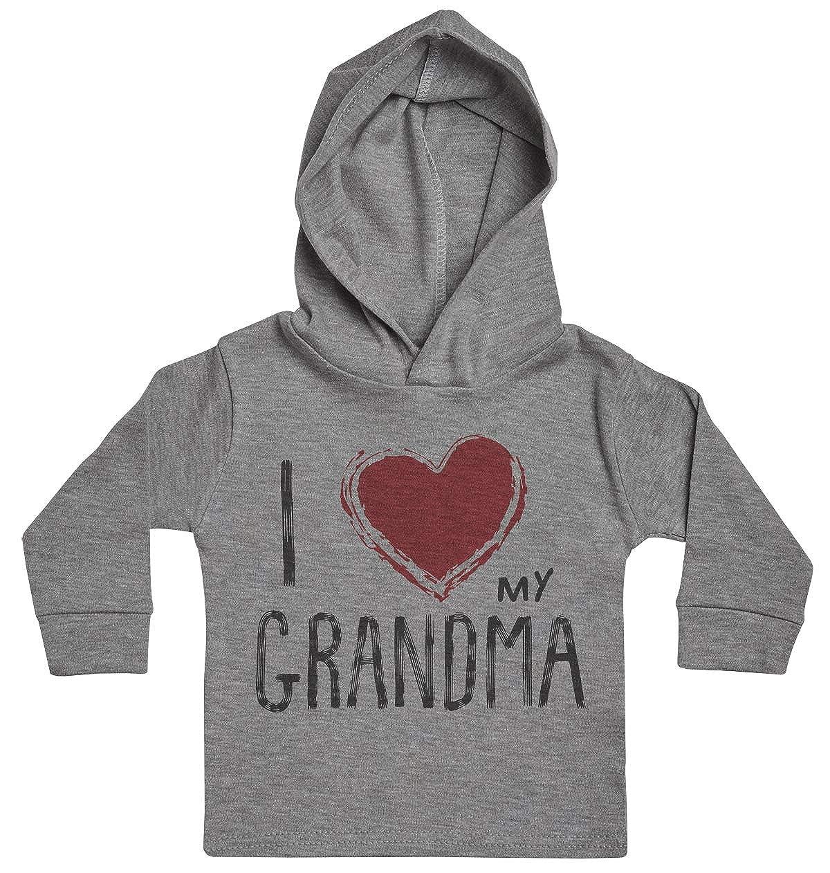 Baby Gift I Love My Grandma Red Heart Baby Boy Hoody Baby Hoody Baby Clothing Baby Girl Hoody