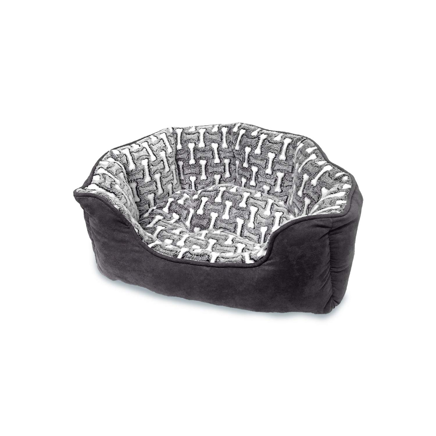 Ethical Pets 31032 Sleepzone Scallop Bones  Step in Dog Bed, 24 , Midnight