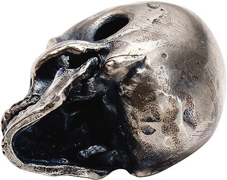 1 18 8 Mexican skull pendants  chiseled Metal  alloy Tibetan  Gun Metal color  2.9 cm