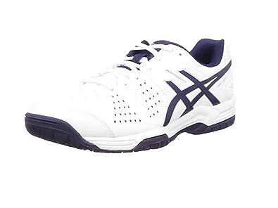 ASICS Gel-Dedicate 4, Tennis Hommes - Blanc (White/Navy/Silver 150), 42.5 EU