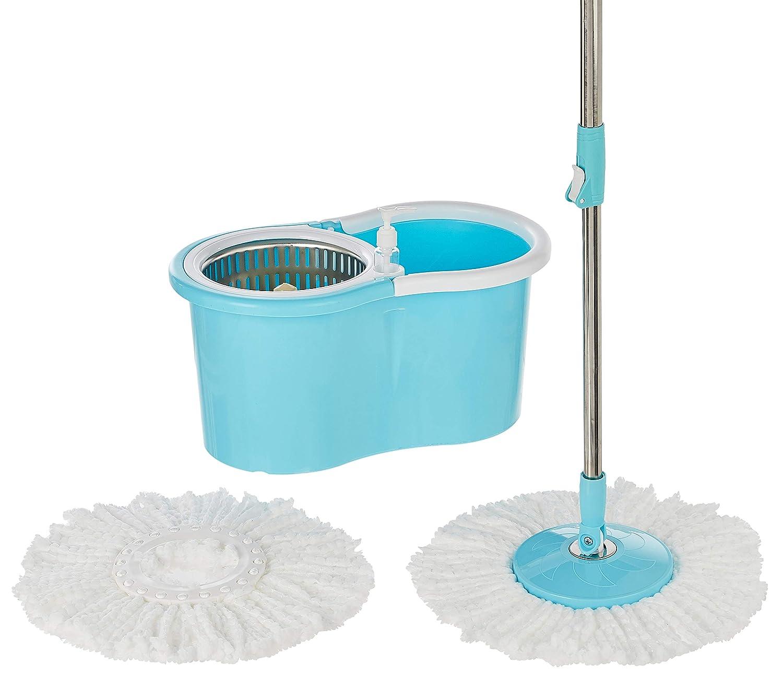 Presto! Spin Mop, Oval Bucket with steel basket