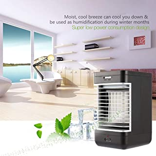 Dailyinshop Refroidisseur d'air à évaporation à Refroidissement par air Refroidisseur Portable d'intérieur à Ventilateur à 2 Vitesses Silencieux, Noir