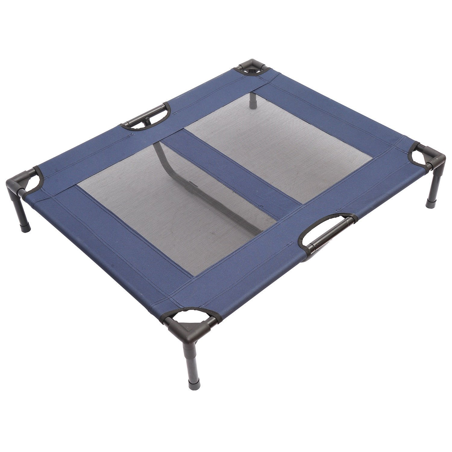 PawHut 36'' x 30'' Elevated Dog Bed/Pet Cot - Blue