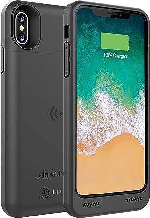 Amazon.com: Funda para iPhone Xs/X, BXXs 4200 mAh, delgada ...
