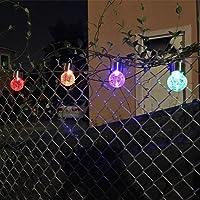 Lot de 4 Lampes Solaires Jardin Lumineuses Solaires ,Couleurs Changeantes Verre Craquelé Ballon à énergie Solaire Décoration Jardin,Fête de NORDSD