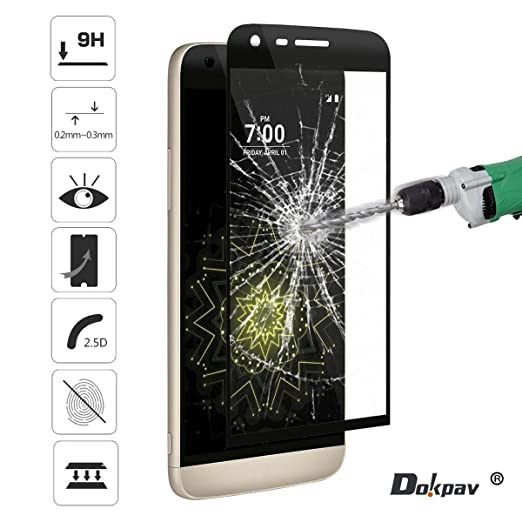 19 opinioni per Dokpav® LG G5 Pellicola Protettiva Vetro Temperato con Panno di Pulizia Ultra