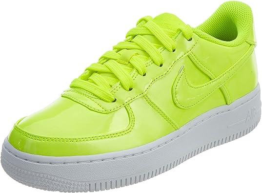 Nike AIR Force 1 LV8 UV (GS) Boys Basketball Shoes AO2286 700_5.5Y VoltVolt White White