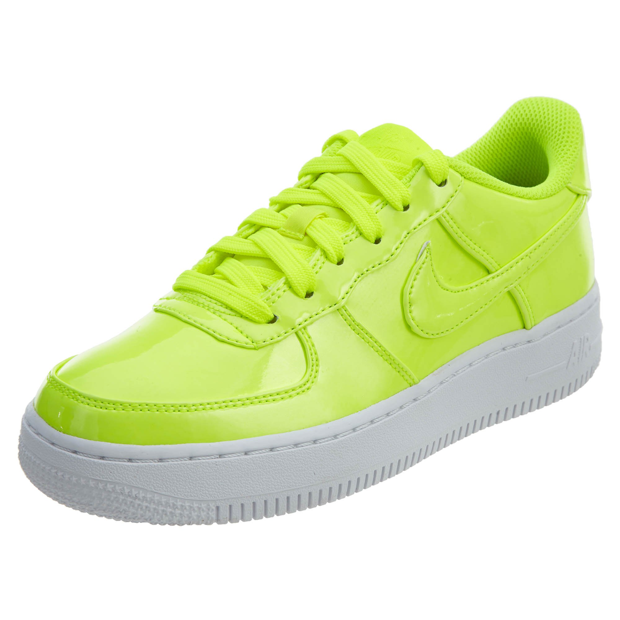 Nike AIR Force 1 LV8 UV (GS) Boys Basketball-Shoes AO2286-700_4Y - Volt/Volt-White-White
