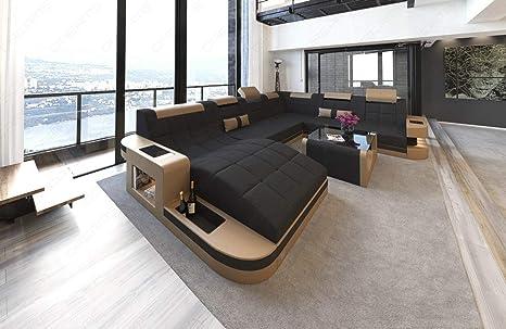 Sofa Dreams XXL Sofá de Tela Conjunto de Muebles para Salón ...