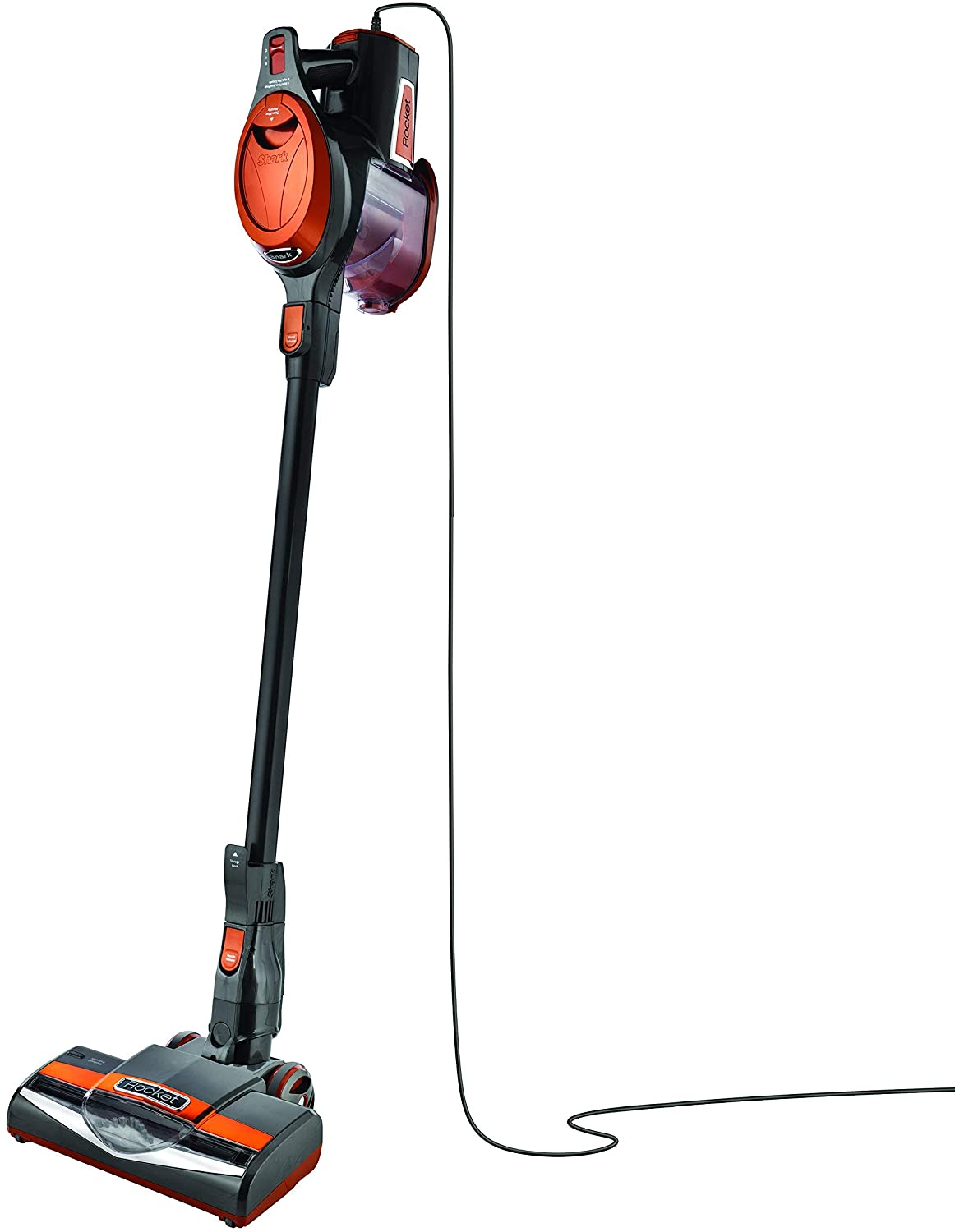 SharkNinja HV301 Rocket Stick Vacuum, Orange and Gray - Renewed