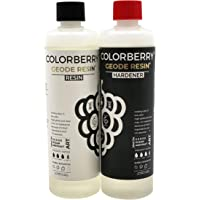 COLORBERRY Geode Resin (The One To One Harts) 1: 1 - Premium gjutet harts/epoxiharts skapat i Tyskland - Syntetiskt…