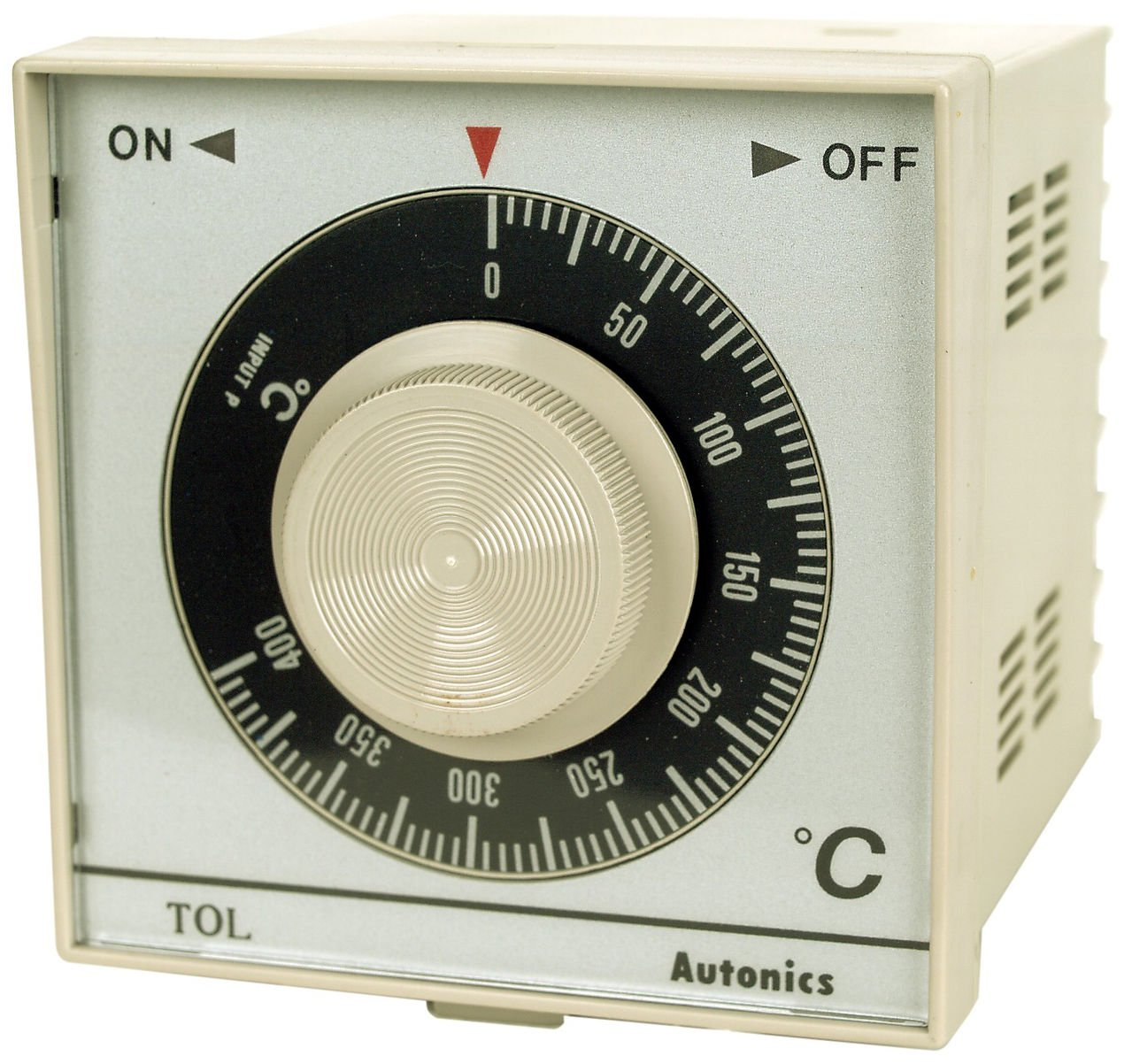 Autonics TOL-F3RK1C Temp Control, 1/4 DIN, Analog, On/Off, Relay Output, K Thermocouple, 100 C, 110 & 220 VAC by Autonics USA, Inc