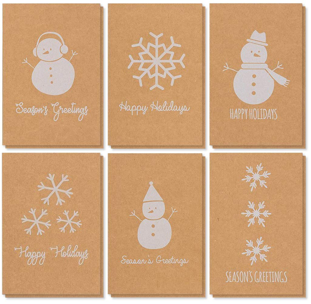 Amazon.com: 48-Pack Merry Christmas Greeting Cards Bulk Box Set ...