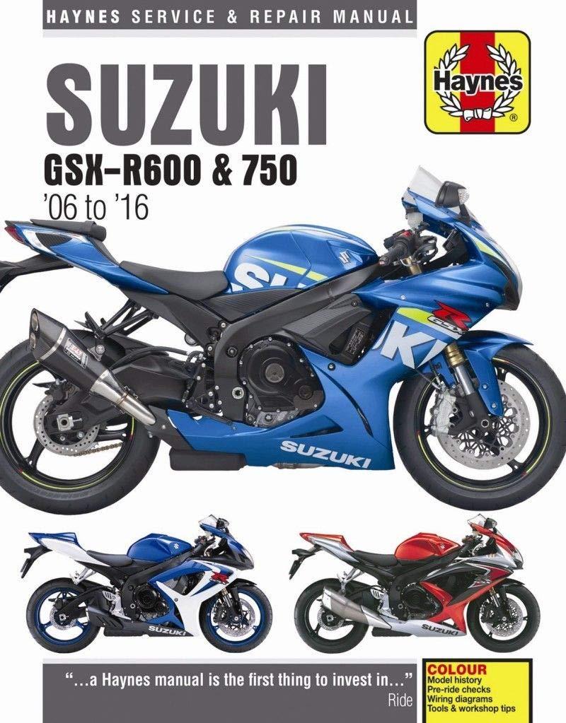 2006-2016 Suzuki GSXR600 GSXR750 GSXR 600 750 HAYNES REPAIR MANUAL 4790