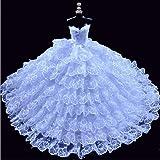 Youvinson Preciosas hechas a mano Ropa, vestido Hecho para muñecas Barbie(Blanco)