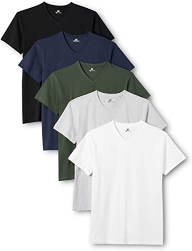 TALLA XL. Lower East V-Neck T-Shirt Camiseta Hombre (Pack de 5)