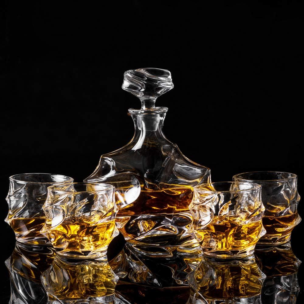 KANARS Emperor Whiskey Decanter And Glasses Set With Luxury Gift Box For Scotch + Bourbon + Liquor, 5-Piece, Original by KANARS (Image #5)
