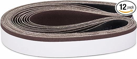 1 X 44 Inch 120 Grit Aluminum Oxide Metal Sanding Belts 12 Pack