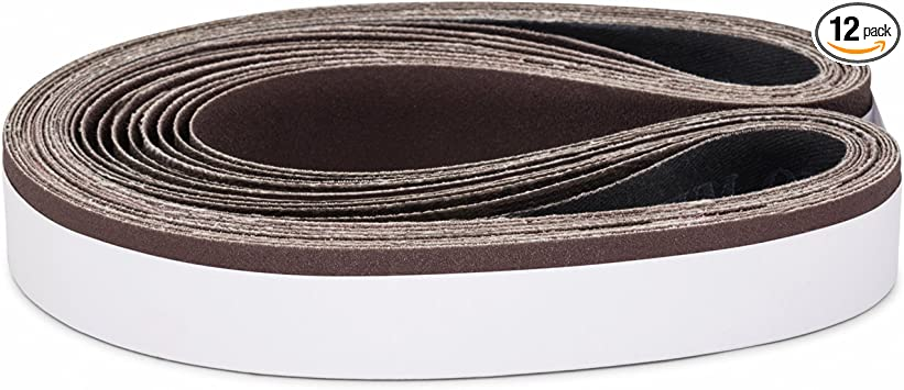 "1/"" X 30/"" 100 Grit Abrasive Sanding Belts 10 Pack Aluminum Oxide USA Made"