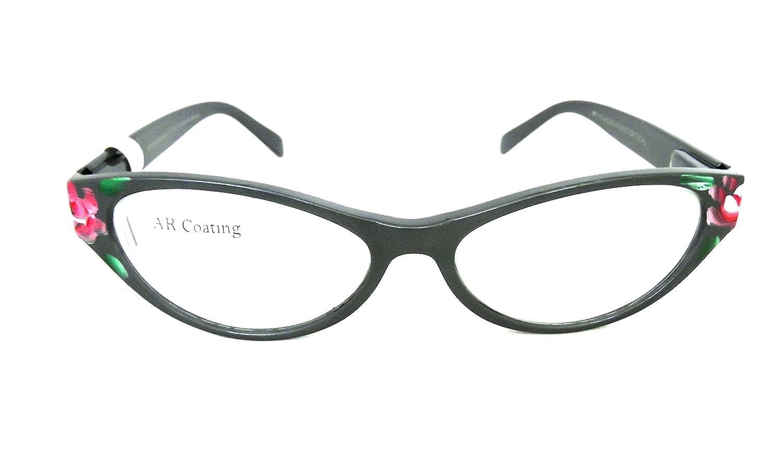 0c66fd89c8 Amazon.com  Optical Reading Glasses Contemporary Ladies DELILAH Design EYE  CANDY Fashionable Women Eyeglasses + Soft Pouch Gunmetal +2.75  Health    Personal ...