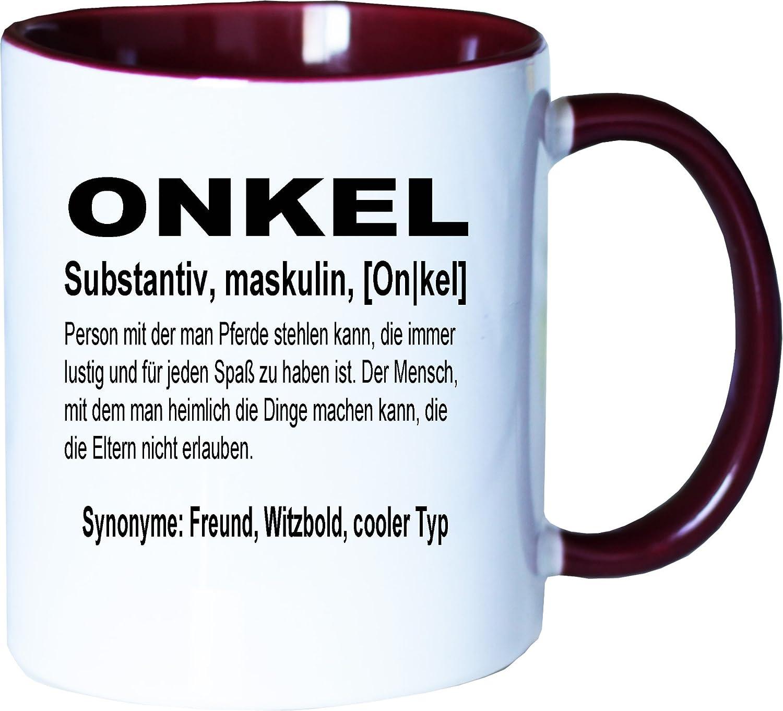 Mister Merchandise Kaffeebecher Tasse Onkel Definition Bruder ...
