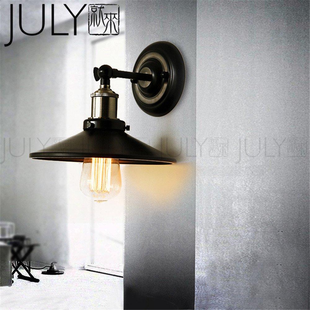BOOTU lámpara LED y luces de pared Nave industrial retro LOFT dormitorio estudio cafeterías, lámpara de pared: Amazon.es: Iluminación