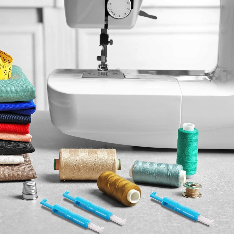 CXJUN 3 piezas de máquina de coser aguja enhebrador insertador ...