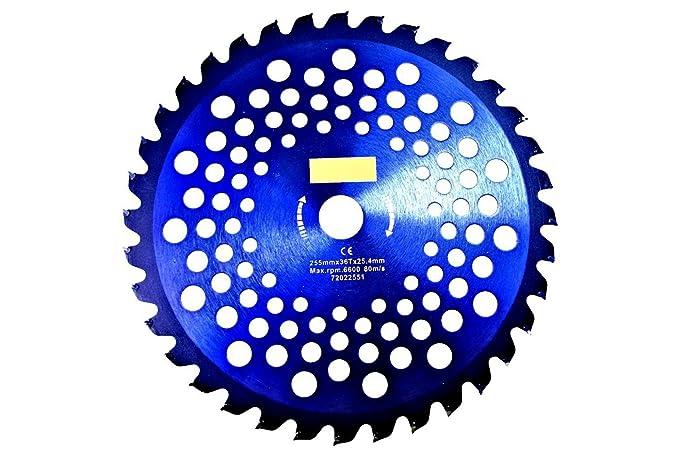 Disco para desbrozadora, hoja de acero para madera, 255 mm, con ...