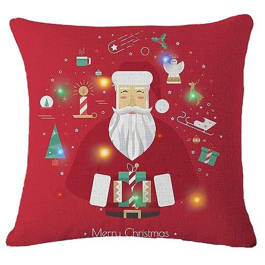 Lihan LED Design Funda de Navidad Series Fundas de cojín ...