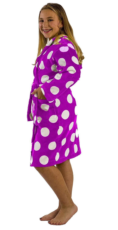 Bathrobe Custom Embroidered Polka Dot Printed Kids Robe