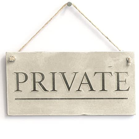 meijiafei privado - Vintage privacidad cartel/placa para ...