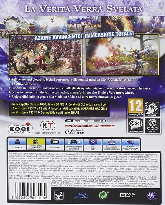 Warriors Orochi 3: Ultimate [Importación Italiana ...