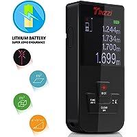 Télémètre,Mini Télémètre laser numérique,Tinzzi Mètre Laser Numérique avec Rétro-éclairage,Metre laser numerique avec chargeur USB,Haute Précision et Les données,Anti-Poussière Etanche(IP54)