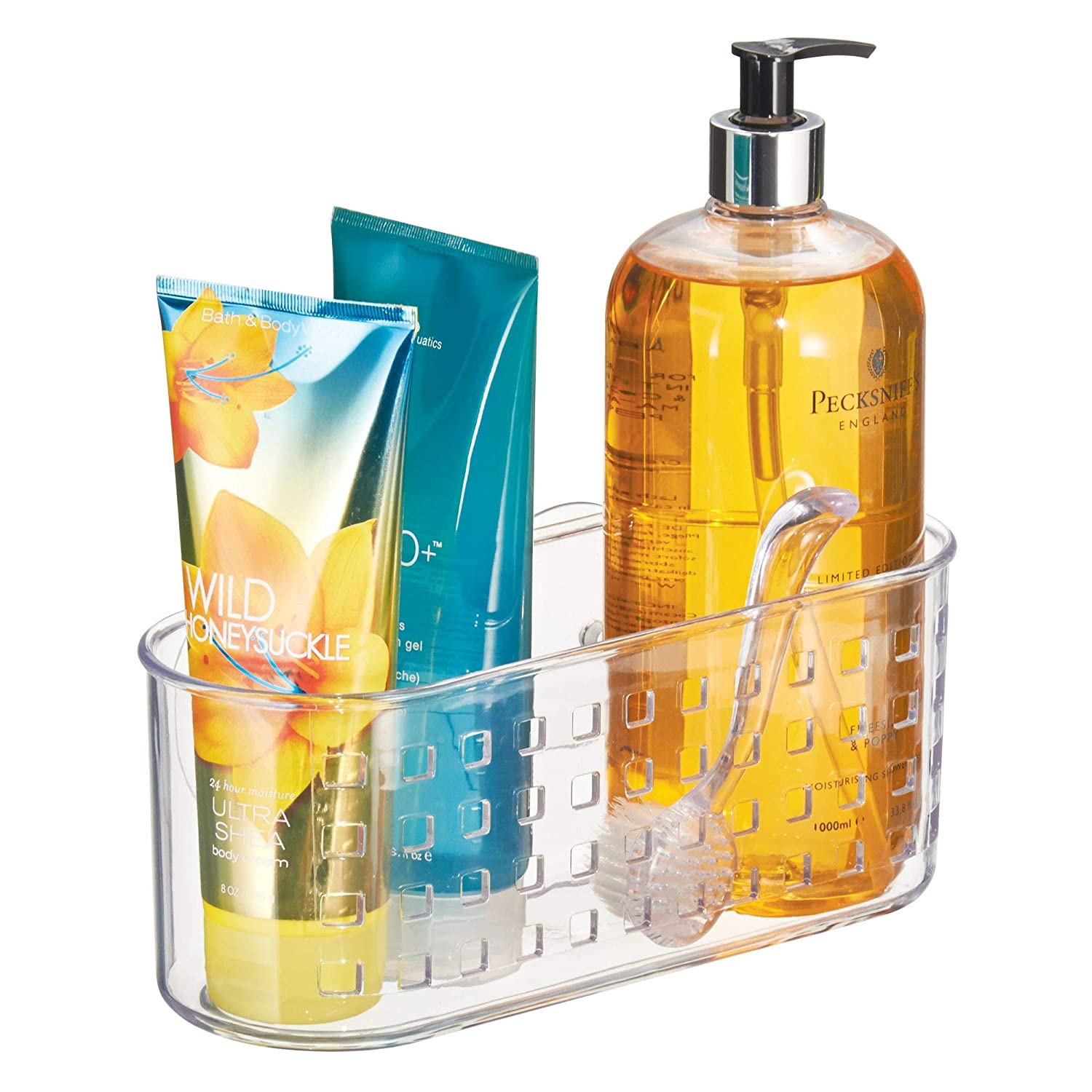 Amazon.com: InterDesign 41600 Suction Bathroom Caddy - Shower ...
