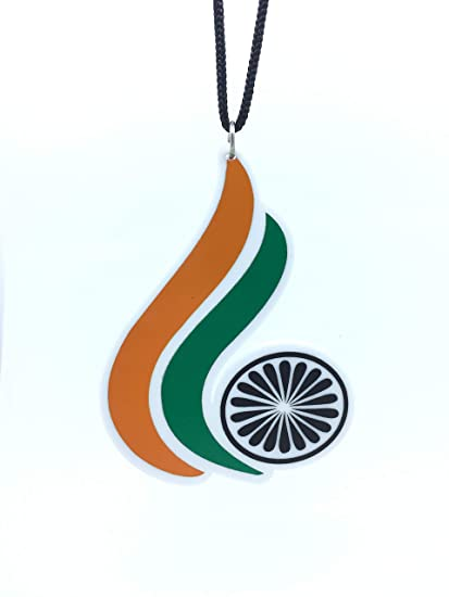 Clean & Clever Car Logo Indian Flag Wings Look Hanging Car Accessories for  Rear View Mirror, 3 5-inch Height